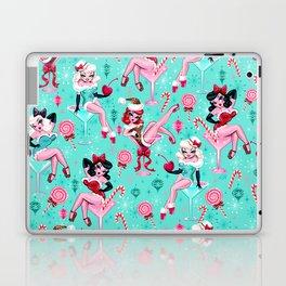 Christmas Candy Martini Pinup Girls Laptop & iPad Skin