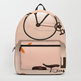 Houten Netherlands Cycling poster print. Backpack