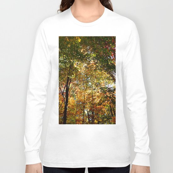 Through the Trees in October Long Sleeve T-shirt