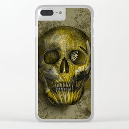 skull gold art decor Clear iPhone Case