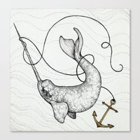 "uncharted Canvas Prints featuring ""Uncharted Waters"" art print by Caitlin Hackett"