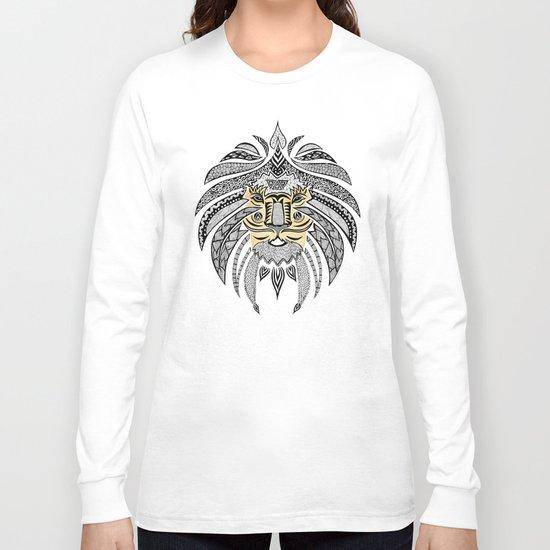 Whimsical Tribal Lion Long Sleeve T-shirt