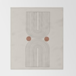 Modern Minimalistic Art Throw Blanket