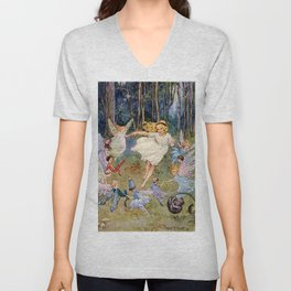 """""""Fairies Dancing in a Circle"""" by Margaret Tarrant Unisex V-Neck"""