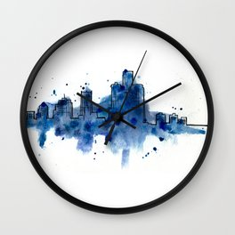 Going Downtown: Detroit Wall Clock
