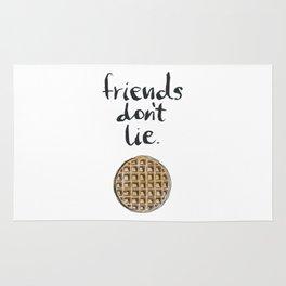 friends dont lie waffle Rug