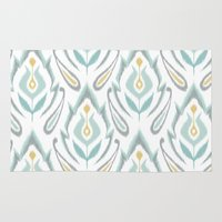 ikat Area & Throw Rugs featuring Soft Ikat by Patty Sloniger