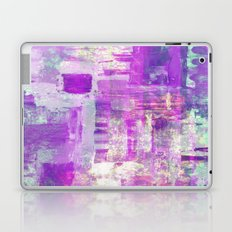 Beauty In Blue And Pink - Abstract, textured painting Laptop & iPad Skin