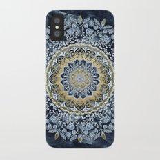 Blue Floral Mandala iPhone X Slim Case