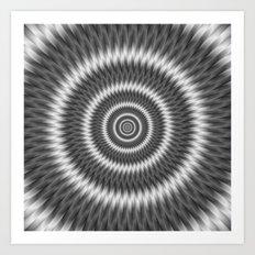 Monochrome Rings Art Print