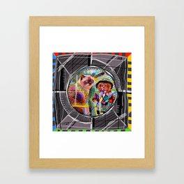Test Card Framed Art Print