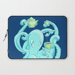 Squiggles: The perfect coffee (dark blue) Laptop Sleeve