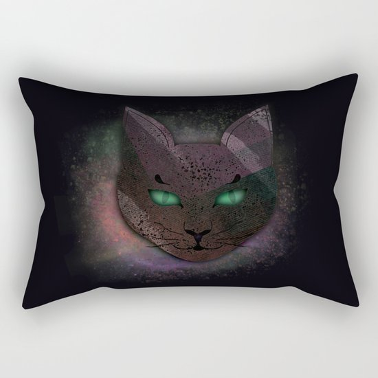 Watching Cat Rectangular Pillow