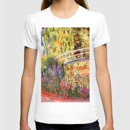 "Claude Monet ""Water lily pond, water irises"" T-shirt"