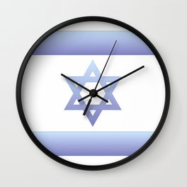 flag of Israel - with color gradient Wall Clock