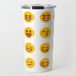 Cute Set of Emojis Travel Mug