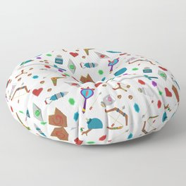 Zelda A Collection of Items Vector Pattern Floor Pillow