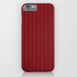 Fuck You - Pin Stripe - conor mcgregor Red iPhone Case