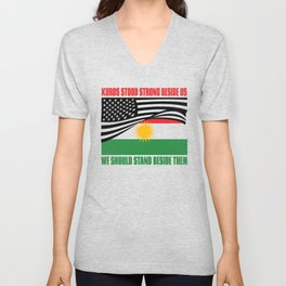 The Kurds Supported Us Unisex V-Neck