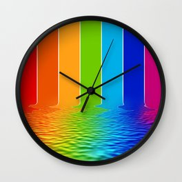 spectrum water reflection Wall Clock