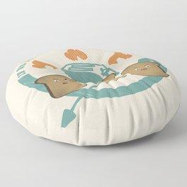 The Toast On Fire Floor Pillow