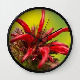 Hummingbird Flower Wall Clock