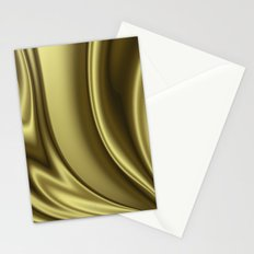 Abstract Fractal Colorways 02 Simple Gold Stationery Cards