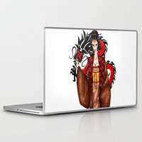 mulan Laptop & iPad Skins featuring Mulan by artwaste