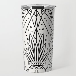 Santa Fe Garden – Black Ink Travel Mug