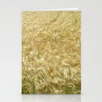 catcher in the rye Stationery Cards featuring soft rye field II by blackpool