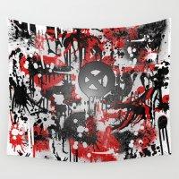 graffiti Wall Tapestries featuring Graffiti  by Jonna Ivin