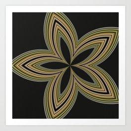 Fractal Star Aura in CMR 01 Art Print