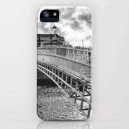 Ha'Penny Bridge in Dublin iPhone Case