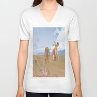 iceland V-neck T-shirts featuring Iceland People by Jonas A.lexander David