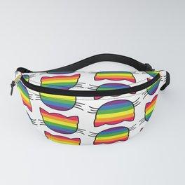 LGBT Rainbow Flag Kitty Cat Pattern Fanny Pack
