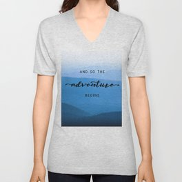 Smoky Mountains -  And So The Adventure Begins Unisex V-Neck