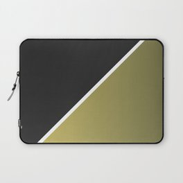 Black and Golden Beryl Abstract Laptop Sleeve