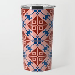 Folk Pattern Travel Mug