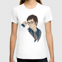 dr who T-shirts featuring Dr Who David Tennant by Hungry Designs