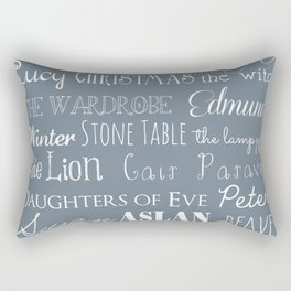 Narnia Celebration - gray Rectangular Pillow