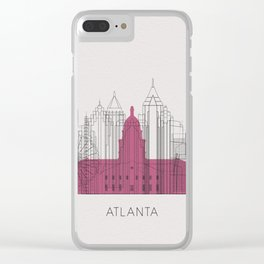 Atlanta Landmarks Poster Clear iPhone Case