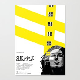 SHE MALE LIVES ON THE 2nd FLOOR Canvas Print