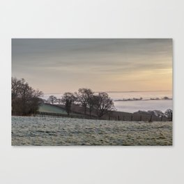 January Sunrise Canvas Print