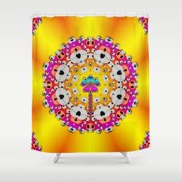 Fantasy flower in tones Shower Curtain