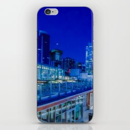 Seattle Pikes Market Waterfront in Blue iPhone Skin