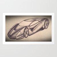 Ferrari inspired Supercar Art Print