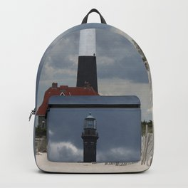 Fire Island Light From The Beach Backpack