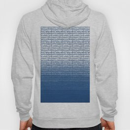 Ombre Blue and White Hoody