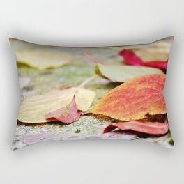 Fallen red and yellow leaves Rectangular Pillow