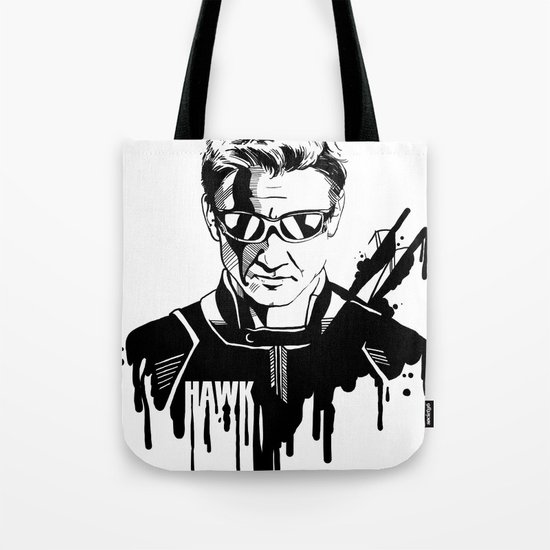 Avengers in Ink: Hawkeye Tote Bag